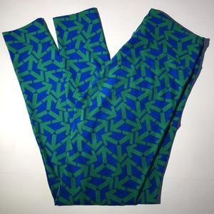 Lularoe Leggings Arrows Blue Green One Size